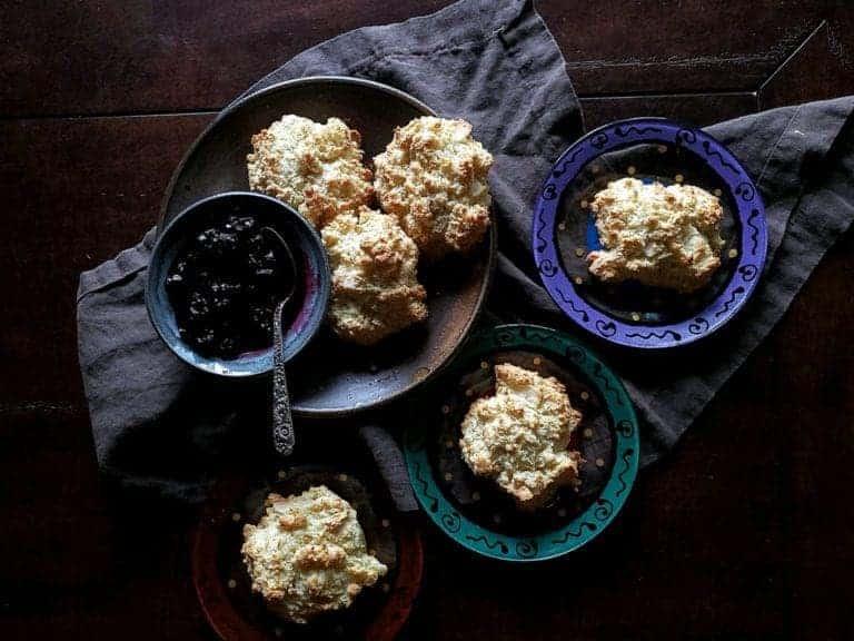 crinkly coconut scones