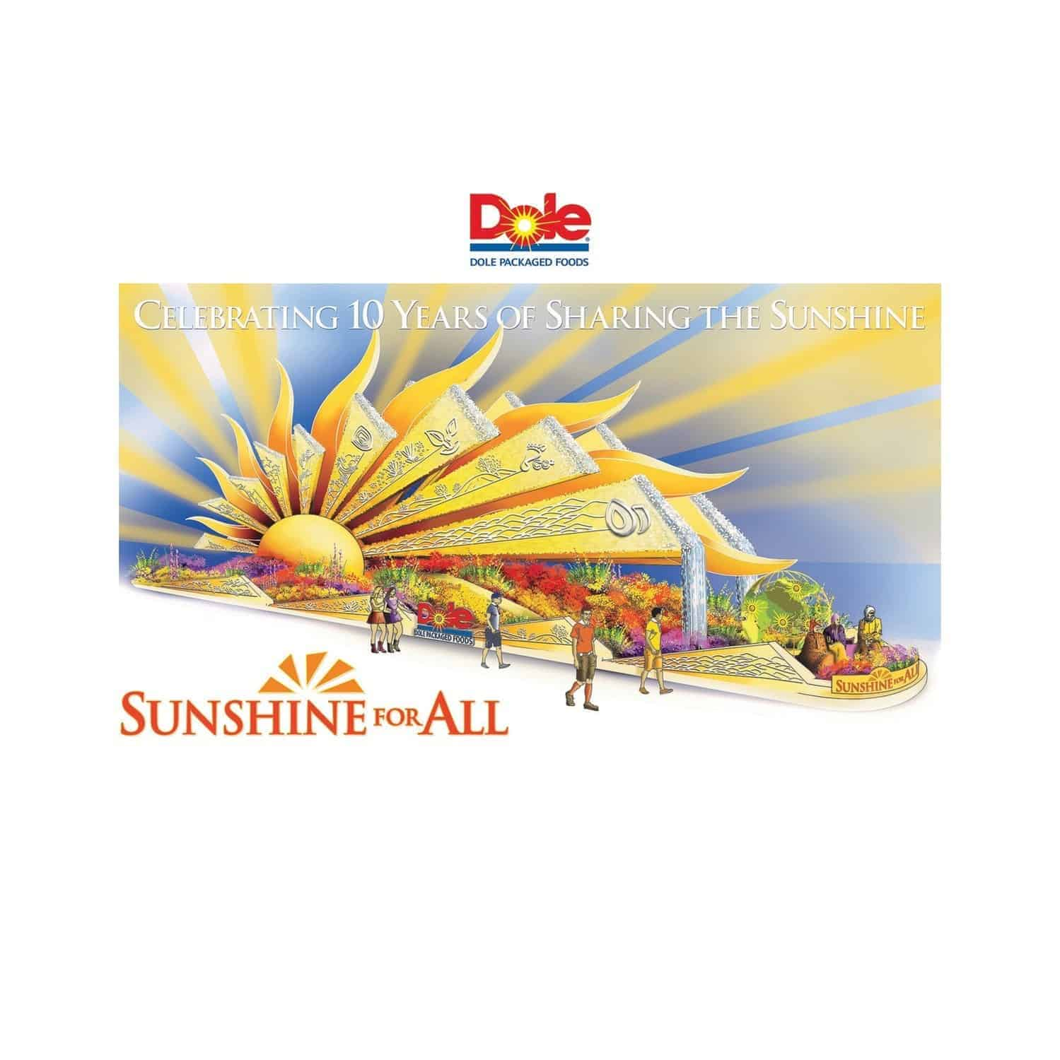 "dole ""sunshine for all"" 2020 rose parade"