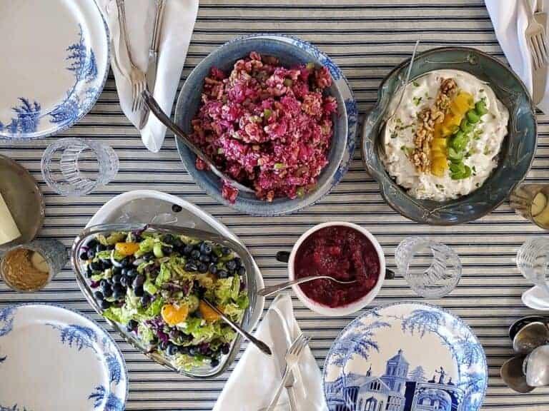 mandarin blueberry chinese cabbage salad