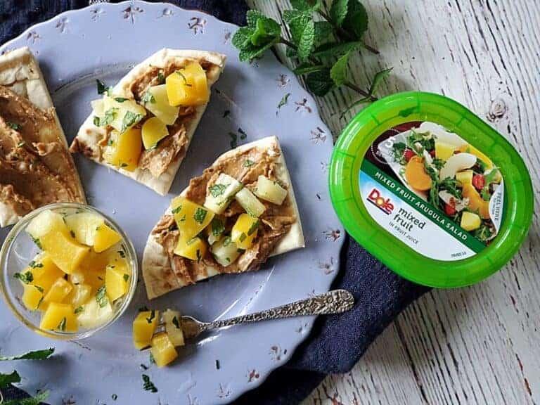 mixed fruit nutter butter flatbread