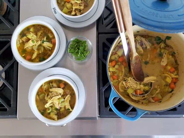 easy quick healing chicken soup