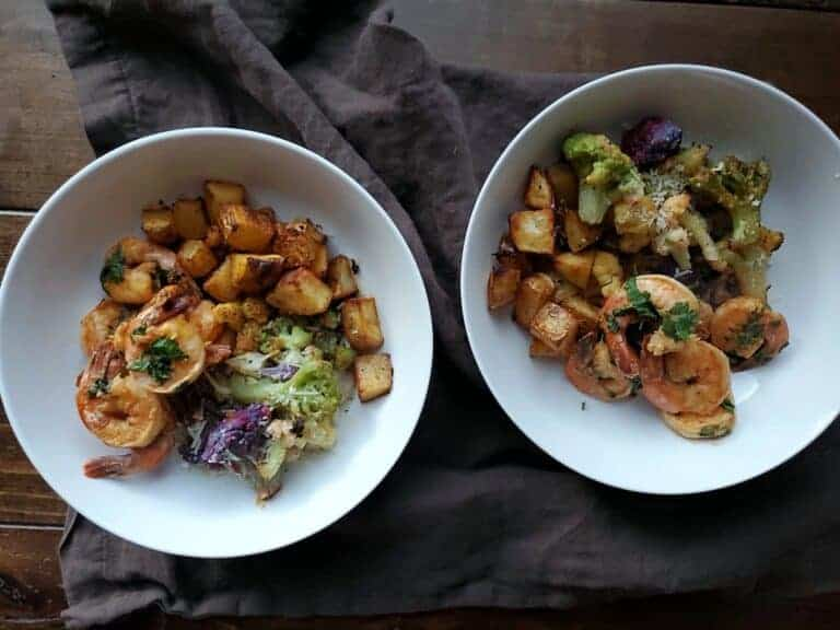 Smokey Spicy Shrimp and Fresh Herbs