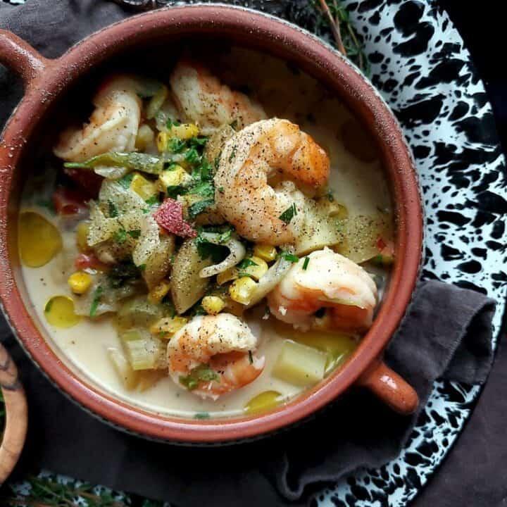 coconut cumin shrimp soup
