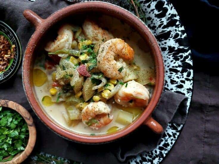 coconut cumin shrimp soup