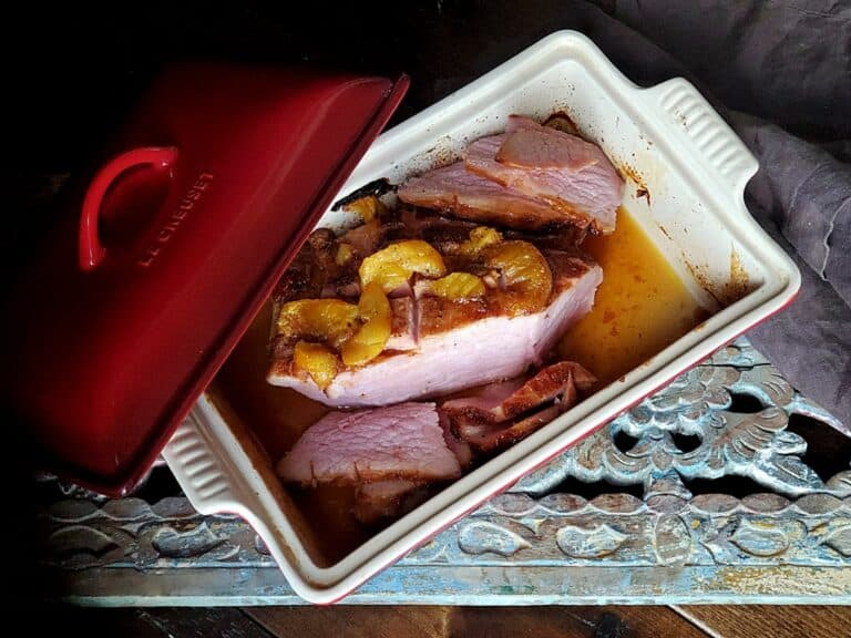 Apricot and Ginger Glazed Ham