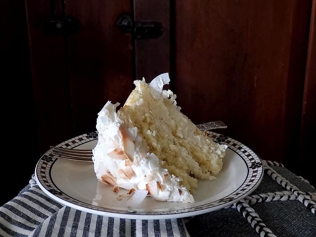 sour cream coconut cake