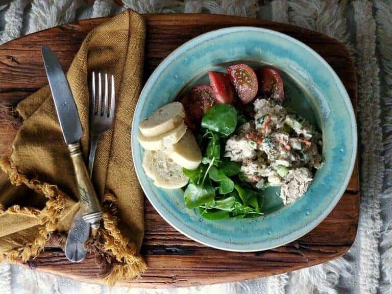 healthy fresh herb tuna salad
