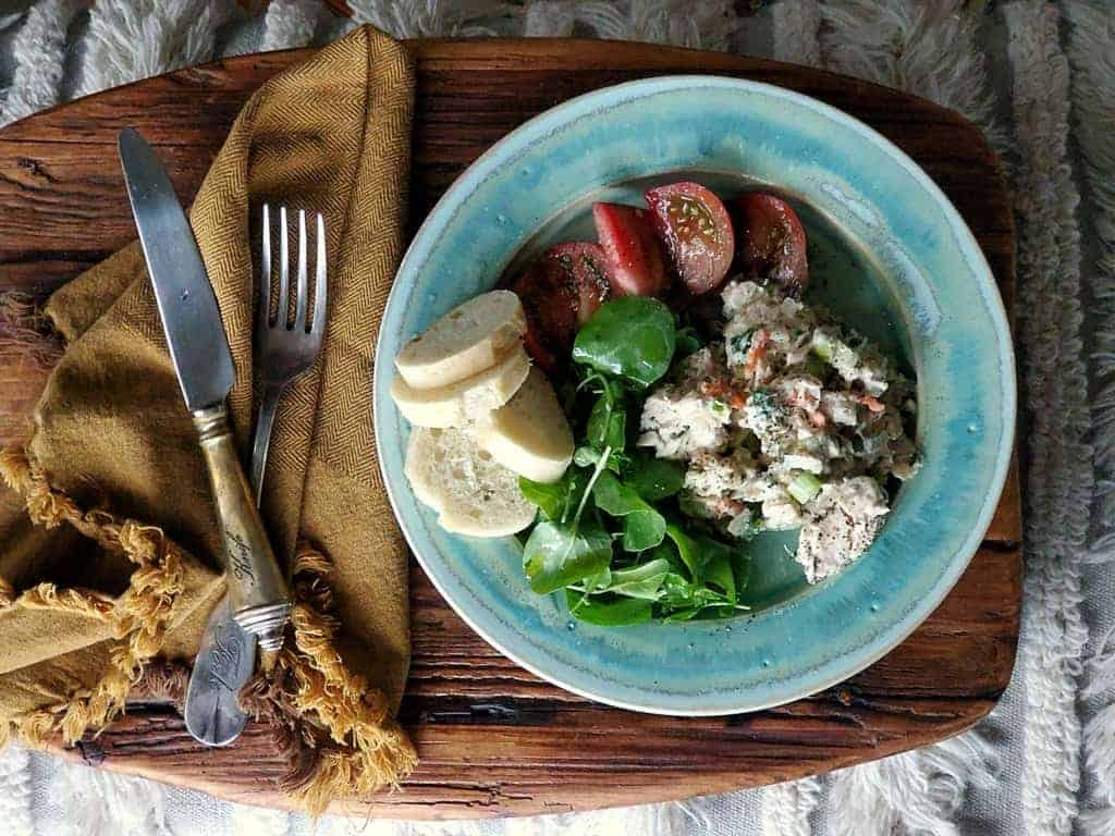 healthy fresh herb tuna salad