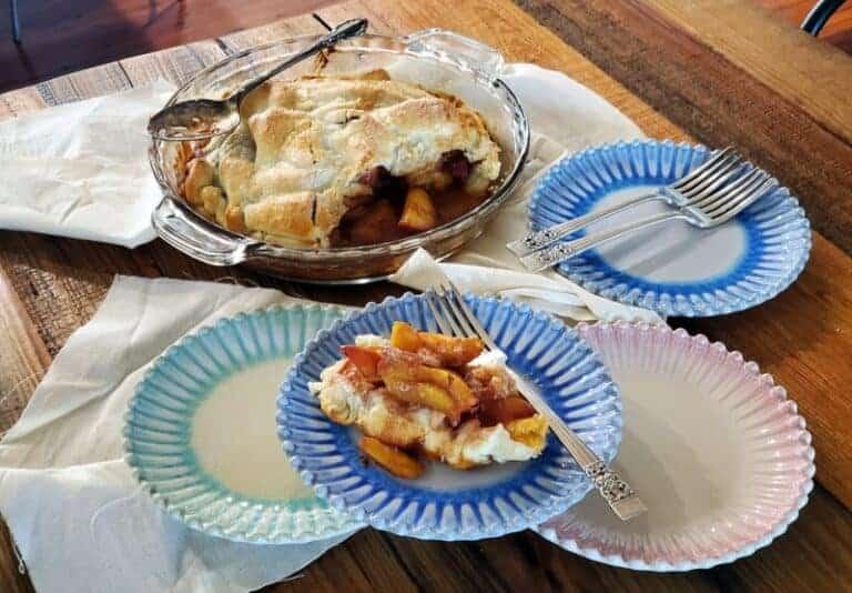 upside down peach pie tart tatin
