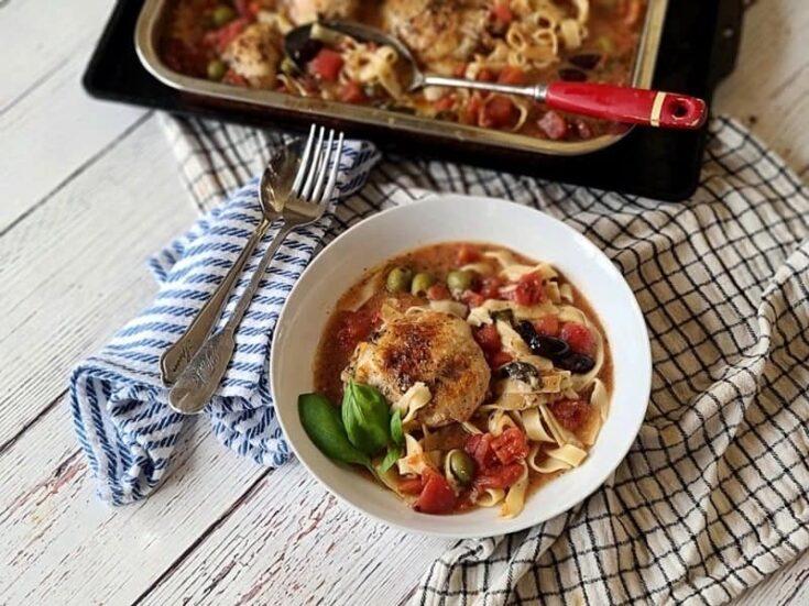 one-dish baked italian chicken pasta