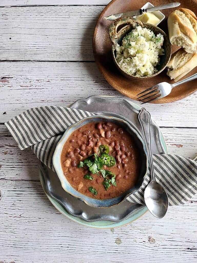 pork taco red beans