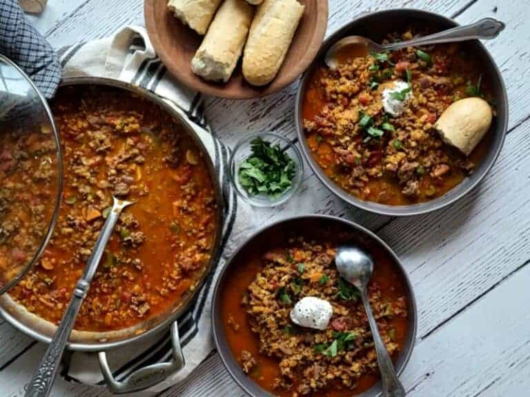 chorizo red lentil soup