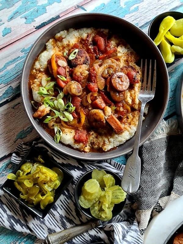 grits andouille sausage shrimp
