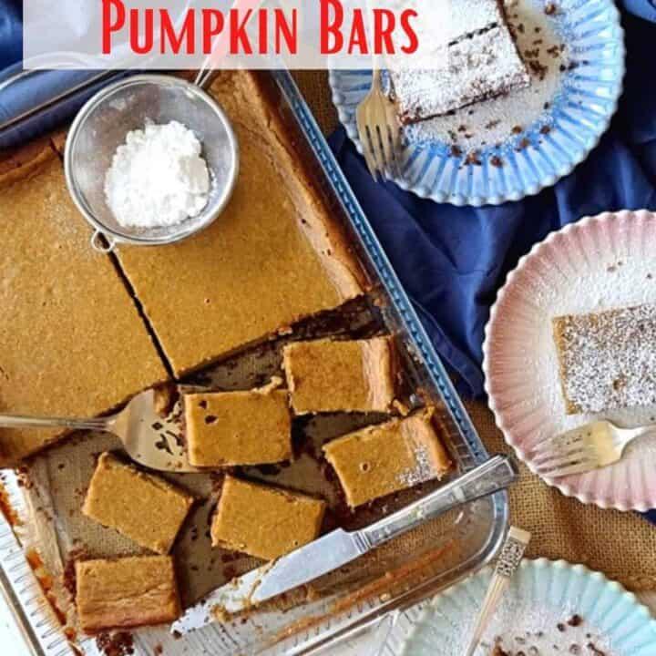 ginger snap pumpkin bars