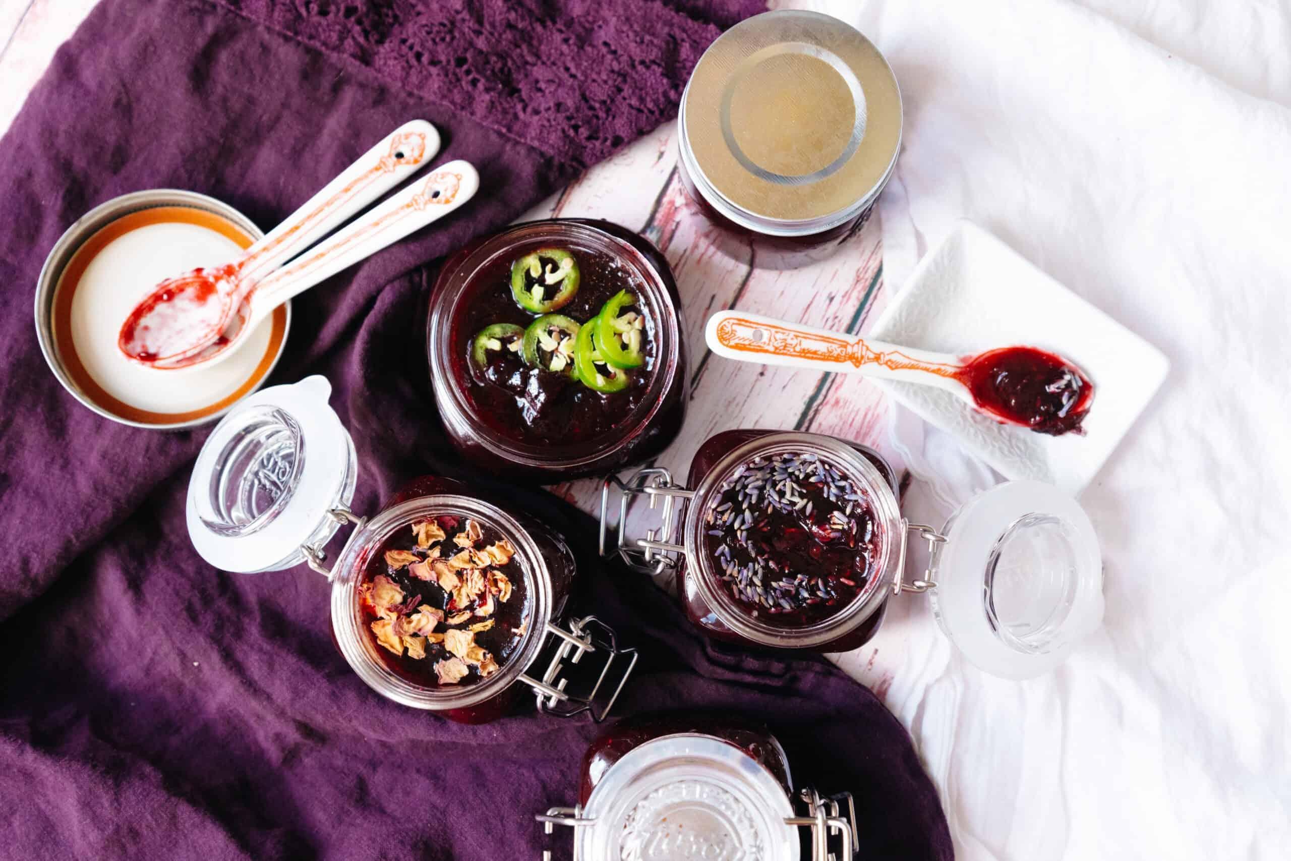 small batch bourbon fruit jam
