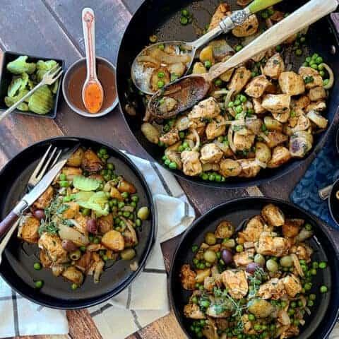 one skillet harissa chicken