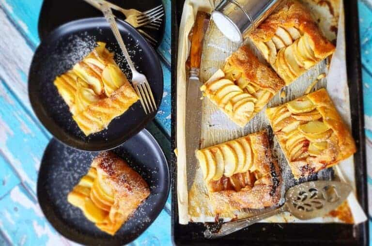 super easy apple slab pie