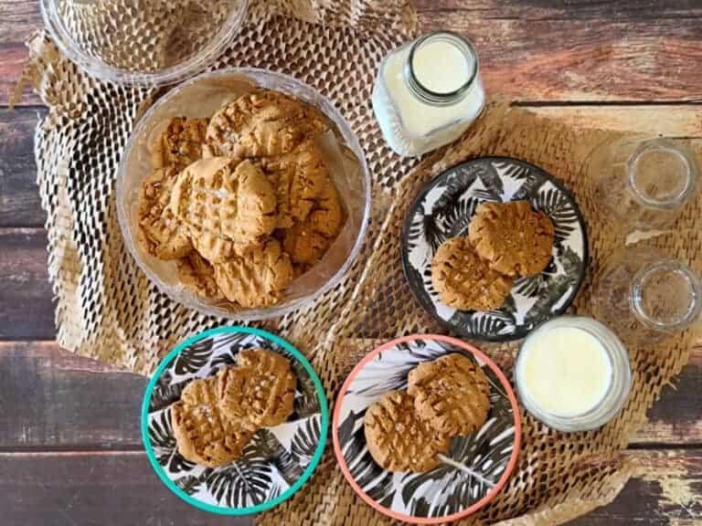 3 ingredient peanut butter cookies