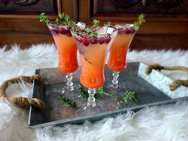 elderflower grapefruit mocktail