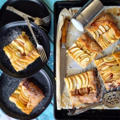easy apple slab pie