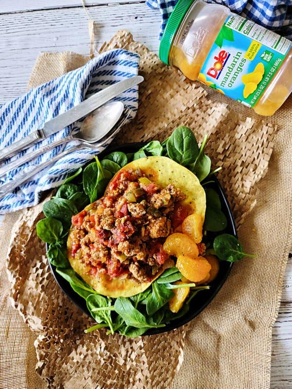 creole pork tostados