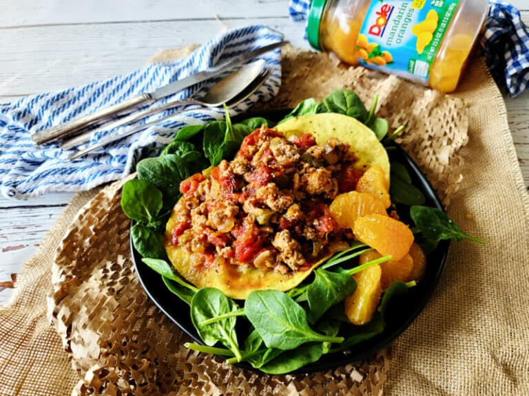 creole pork tostadas