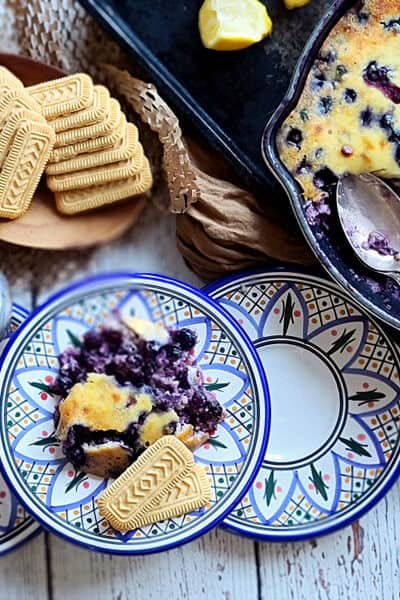 lemon blueberry ricotta custard