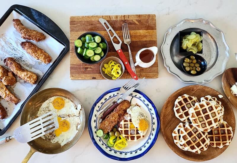 buttermilk chicken waffles