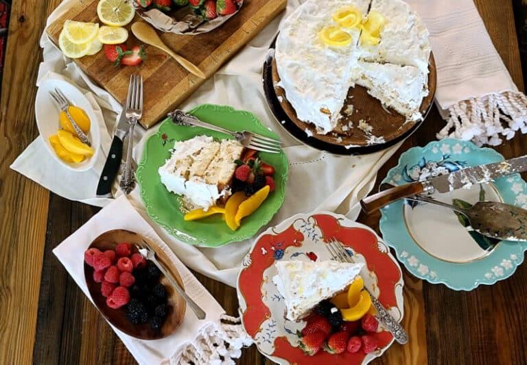 lemon ricotta coconut cake