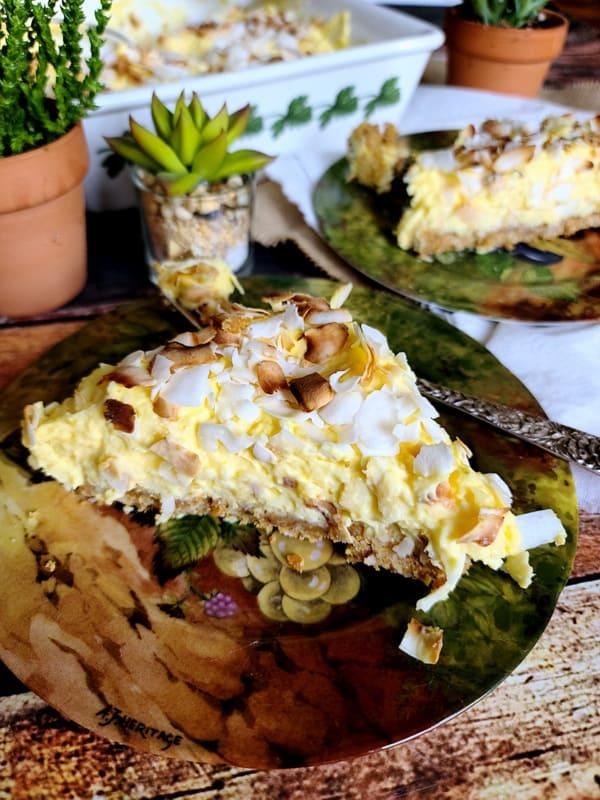 silky coconut pie
