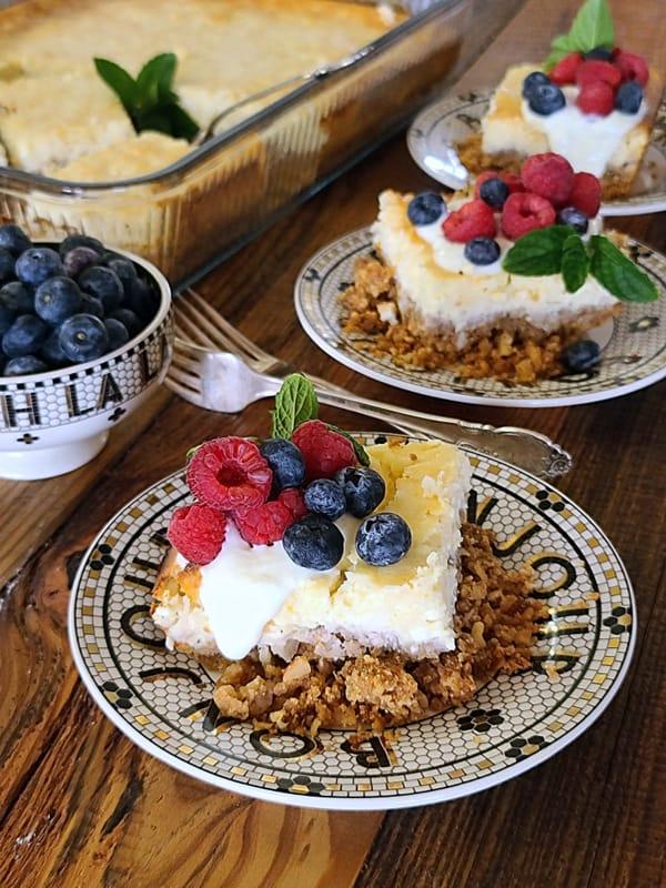 lemon coconut cheesecake