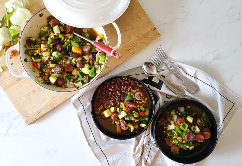 one pan sausage and veggies