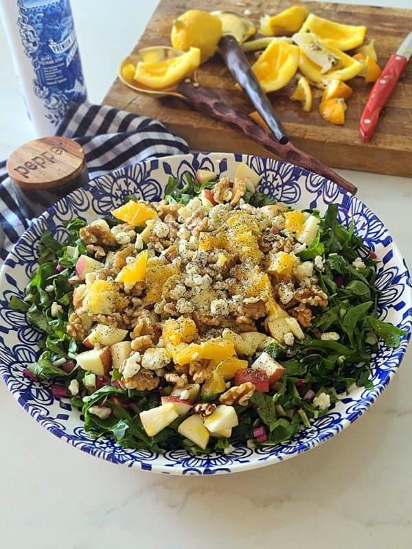 easy nutritious chard apple salad