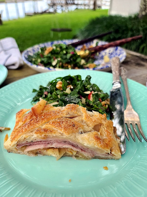 Grandma's Easy Apple Ham Strudel