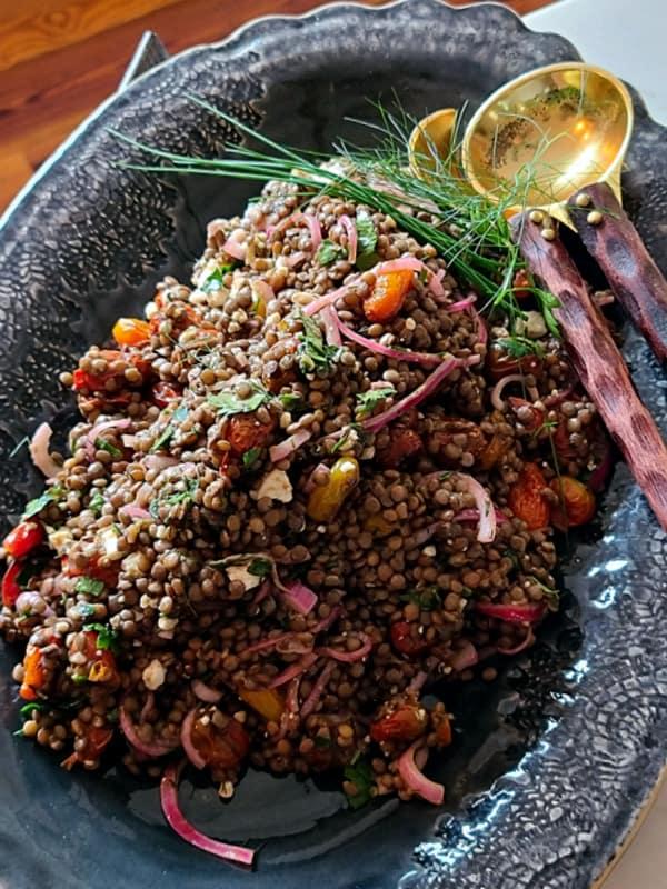 Easy Middle Eastern Lentil Salad