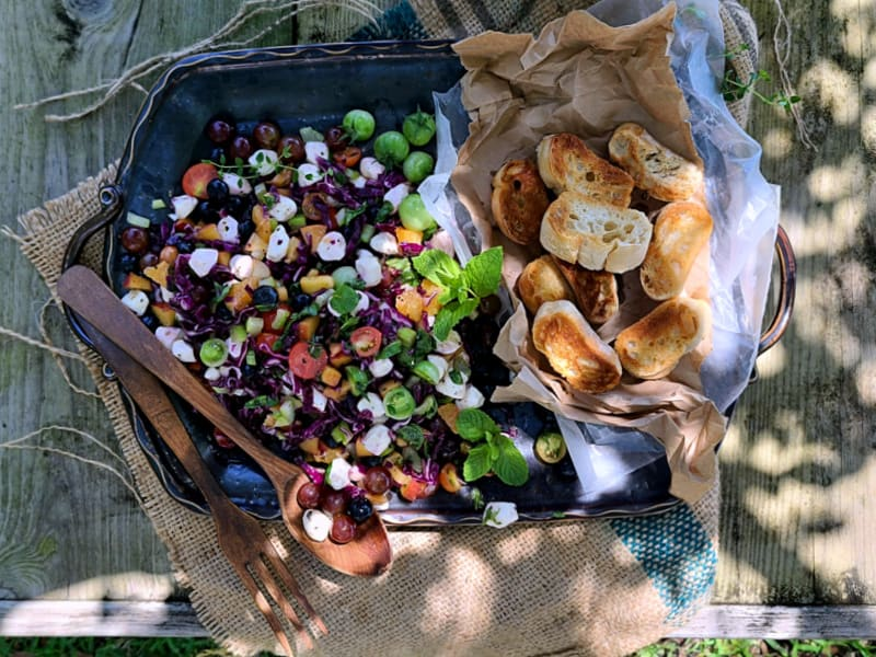 Easy Healthy Fruit Caprese Salad