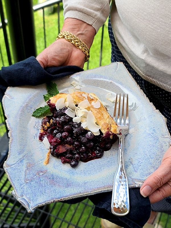 Easy 5-Ingredient Open Faced Blueberry Pie