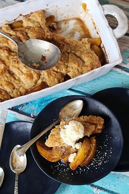 Gluten Free Easy Peach Cobbler