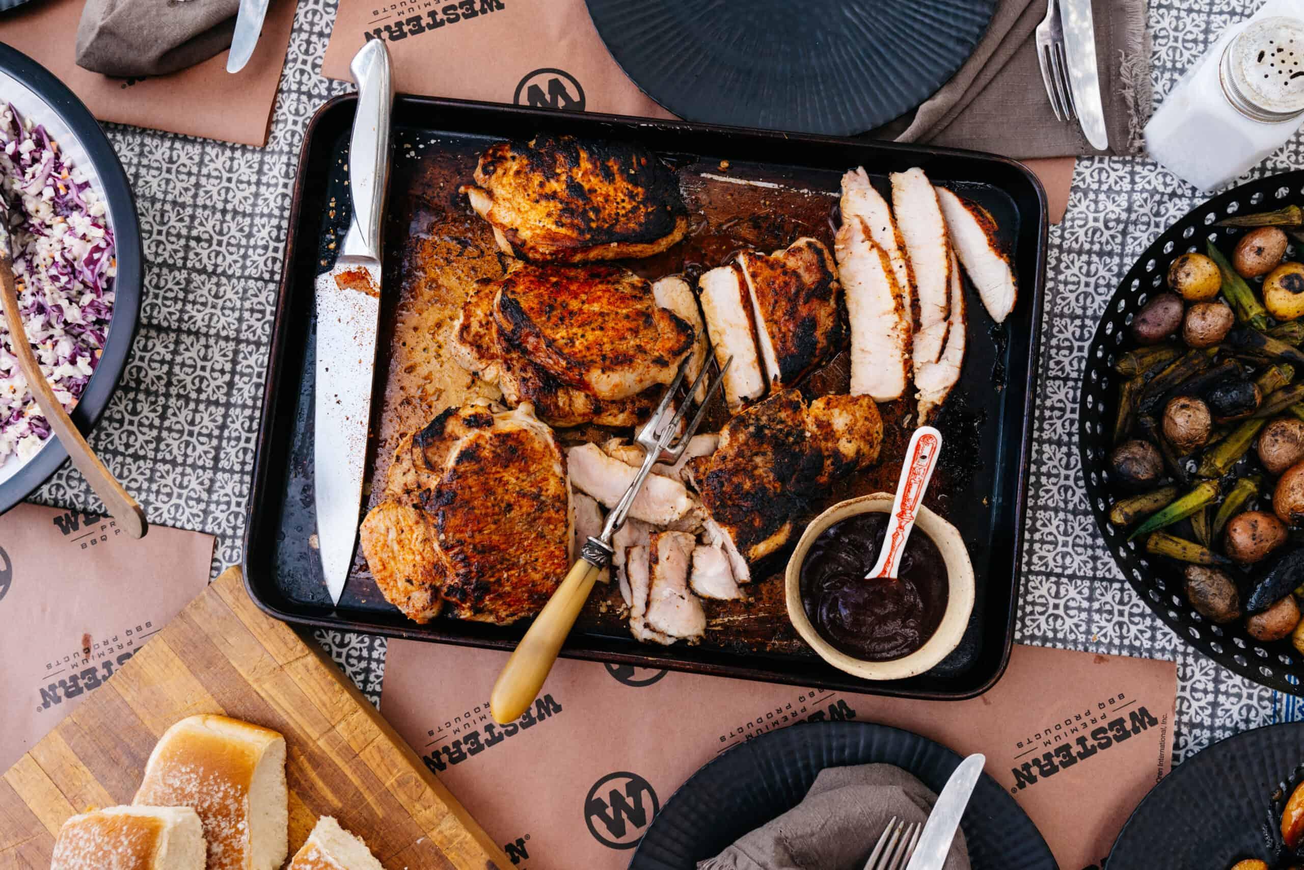 simple pork chop sliders