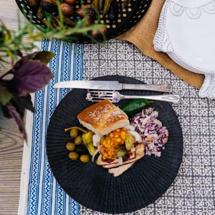 Simple Grilled Pork Chop Sliders